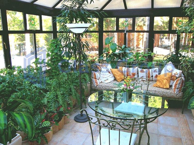 Оранжерея в частном доме  фото